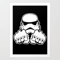 Dark Side Knuckle Art Print