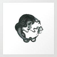 Consider Moon Art Print