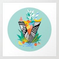 Vegan Fruit Bowl  Art Print