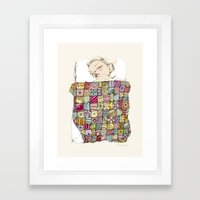 sleeping child Framed Art Print