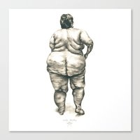 Woman In Shower Canvas Print