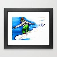 Snowboarder Girl Framed Art Print