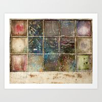 Watercolor Stained Windo… Art Print