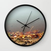 Autumn by the water Wall Clock