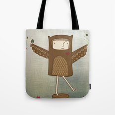 Little Owl Girl Tote Bag