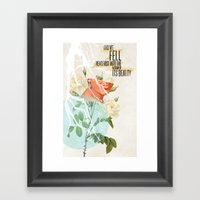 The Vacuum of Its Beauty Framed Art Print