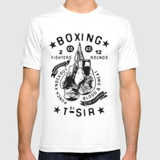Boxing Mens Fitted Tee SMALL White