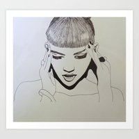 Grimes Art Print