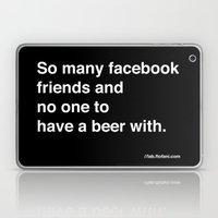 So Many Facebook Friends… Laptop & iPad Skin
