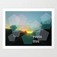 Route Five Art Print