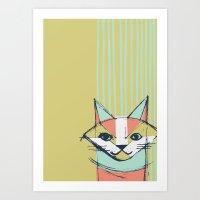 Cubist Cat Study #10 By … Art Print