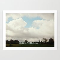 Clouds And Trees Art Print