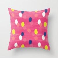 Spotty Pink Throw Pillow