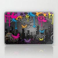 Vector City Grunge. Laptop & iPad Skin