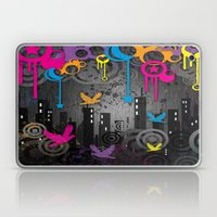 Vector City Grunge. Laptop & iPad Skin