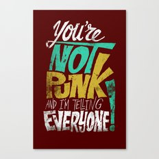 Not Punk Canvas Print