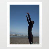 Surfer Success Art Print