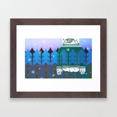 Forest Camo Framed Art Print