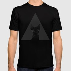 Cut fragments Cat Mens Fitted Tee Black SMALL