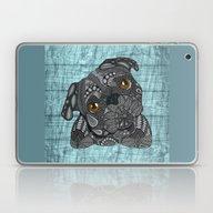 Cute Black Pug Laptop & iPad Skin