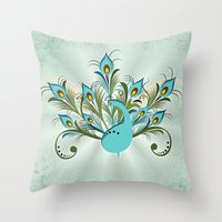 Just a Peacock Throw Pillow