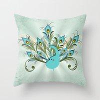 Just A Peacock Throw Pillow
