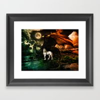 IT TAKES A DRAGON TO EAR… Framed Art Print