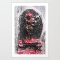 Bodhinath Shrine - 2 Of … Art Print