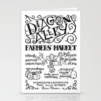 Diagon Alley Farmers' Market Stationery Cards