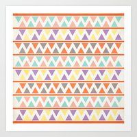 Triangulate 2 / Summer Bliss Art Print