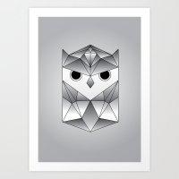 Owl. Art Print