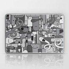 Pile de Monstres - Black/White Laptop & iPad Skin