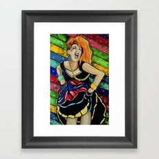 True Colors- Cyndi Lauper  Framed Art Print
