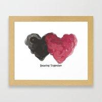 Beating Together Framed Art Print