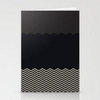 chevron Stationery Cards featuring Chevron by Georgiana Paraschiv