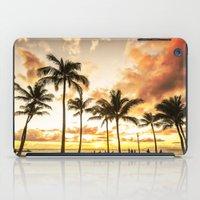 Typical Picturesque Waikiki Beach Sunset iPad Case