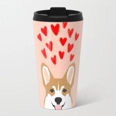 Valentines - Love Corgi  Travel Mug