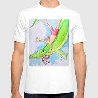 THE CROCODILE  Mens Fitted Tee White SMALL