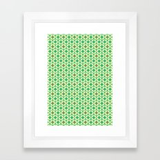 Repeated Retro - green Framed Art Print