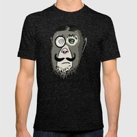 Detective Monkey Head Mens Fitted Tee Tri-Black SMALL