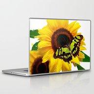 SunflowerButterfly Laptop & iPad Skin