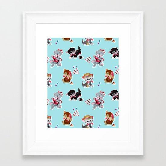 Zombie Cats Framed Art Print