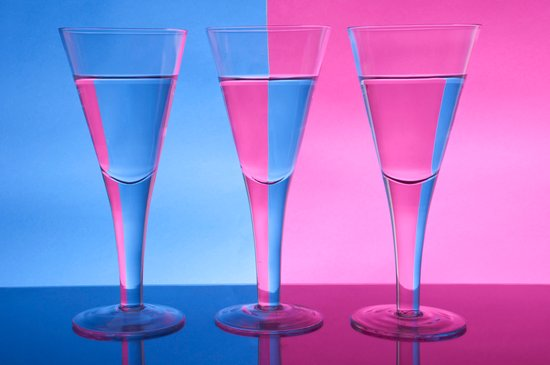 Refracted Wine Glasses  Canvas Print