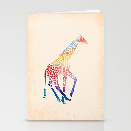 Watercolor Giraffe Stationery Card