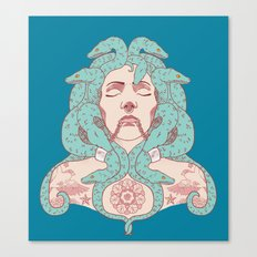 Tattooed Medusa Canvas Print