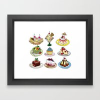 What you DESSERT is what you get! Framed Art Print