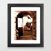 Trapped Man Framed Art Print