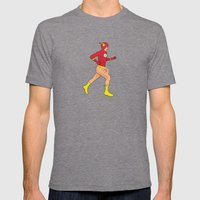 The Flash Mens Fitted Tee Tri-Grey SMALL