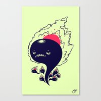 Flaming Squiggles Canvas Print