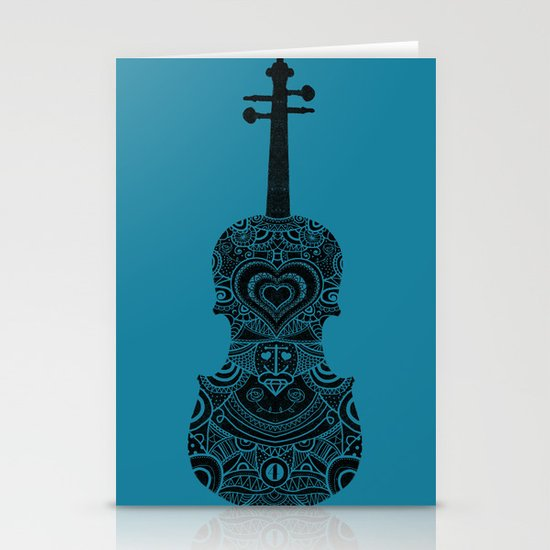 Analog zine - Fiddle Stationery Card